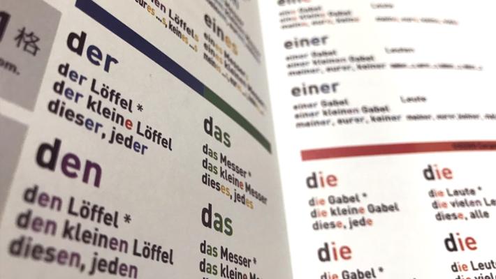 ドイツ語文法表